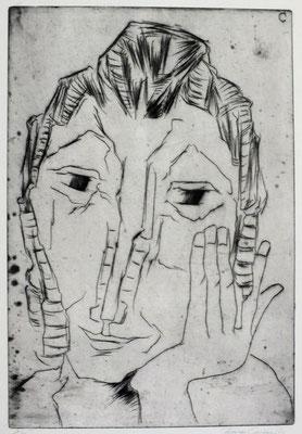 Frauenkopf  1965  26,5 x 39