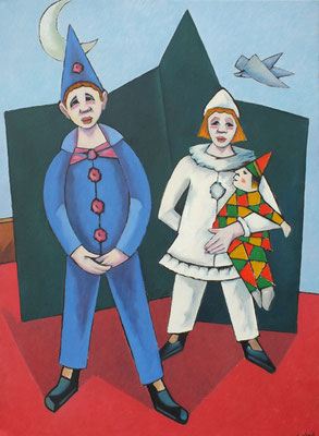 Kinder Clowns   2005  70 x 96