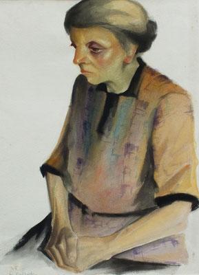 Tante Mina  1948  35 x 47 ( Aquarell )