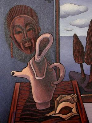 Krug vor Maske  1988  75 x 100