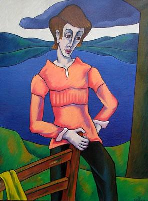 Junge in Landschaft  1995  82 x 110
