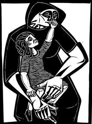Mutter mit Kind I  1984  45 x 60      Platte vorhanden