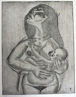 Mutter mit Kind  1996  30 x 38