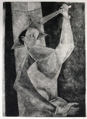 Harlekin II  1955  23,5 x 31,5        Kahle Sammlung