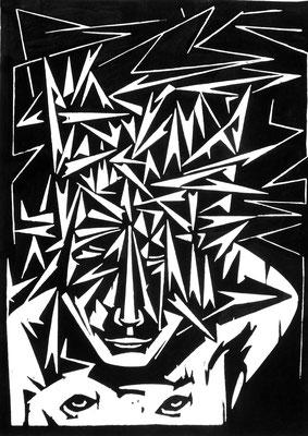 Dornenmann  1966  45 x 60            Platte vorhanden