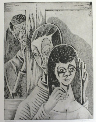 Blick am Fenster I  1996  30 x 39,5