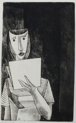 Zeitungsmädchen  1957  23,5 x 38,5