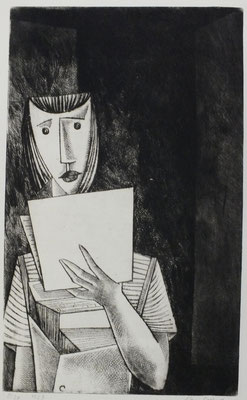 Zeitungsverkäuferin  1957  23,5 x 38,5                 ( 4 )