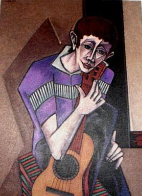 Jüngling mit Gitarre    75 x 100