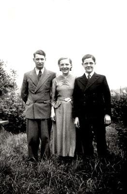 Franz mit seinen Geschwistern Luise und Wilhelm