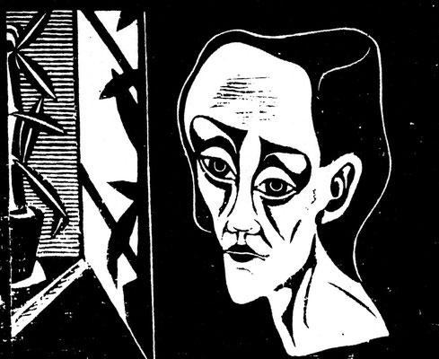 Frau am Fenster  1978    51,5 x 44,5