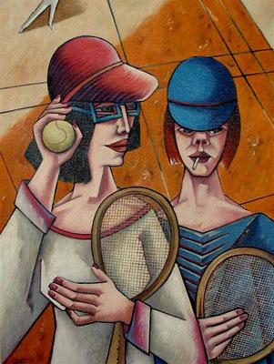 Tennisspieler  1985  75 x 100
