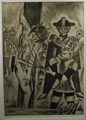Geißelung Christi  1990  39,5 x 56
