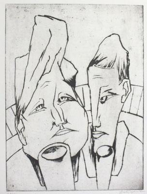 Trinkendes Paar  1962  29,5 x 41       ( 3 )