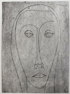 Porträt A (Frauenkopf )  1957  23,5 x 32               ( 2 )