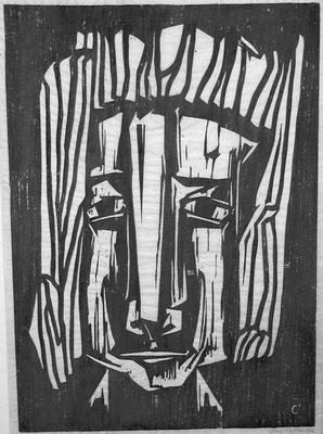Frauenkopf  1965  44 x 63     Platte vorhanden