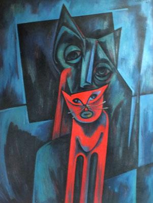 Rote Katze  1968    81 x 104