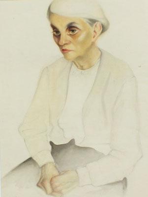 Frau Schumacher  1948  30 x 40,5 ( Aquarell )