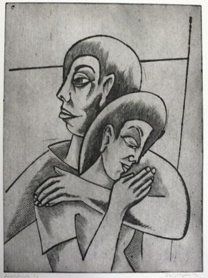 Junges Liebespaar  1996  29,5 x 39,5