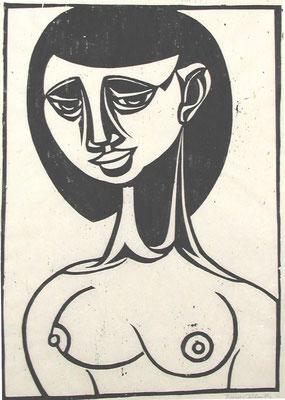 Weiblicher Akt  1958  38 x 52         Platte vorhanden