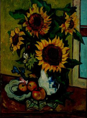 Stillleben mit Sonnenblumen  1953  76 x 101