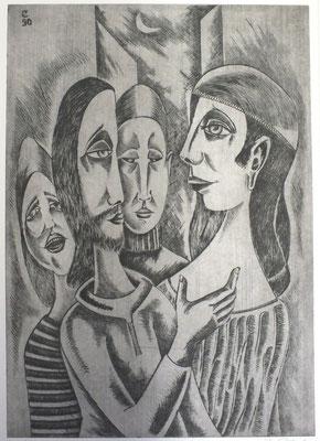 Christus und Magdalena  1990  40 x 56,5