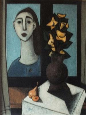 Frau am Fenster  1954    78 x 99