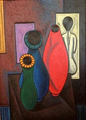Stillleben mit Vasen    66 x 105