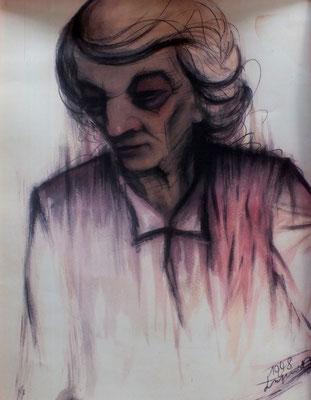 Ältere Dame  1948  39 x 53 ( Aquarell )