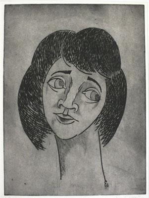 Frauenkopf  1996  29,5 x 39,5         ( 4 )