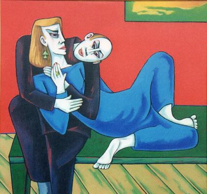 Liegendes Paar  1996    120 x 100