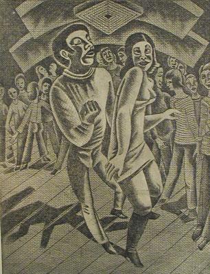 Tanzende  1977  30 x 39,5 ( Ätz )
