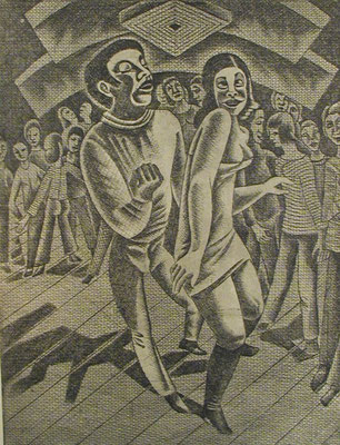 Tanzende  1977  30 x 39,5 ( Ätz )          ( 2 )