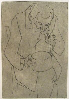 Essender Mann ( Herr Kuschbert )  1954  17 x 26               ( 3 )