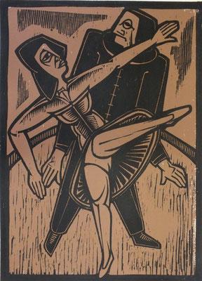 Tanzendes Paar  1984  40 x 55