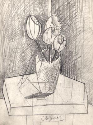 Vase mit Blumen 1957