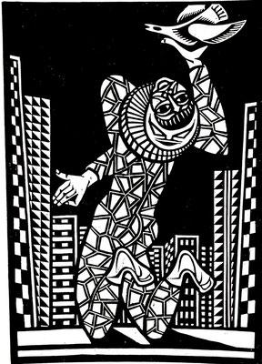 Harlekin  1983  40 x 55