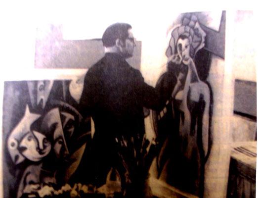 Franz Cestnik im Atelier  1967