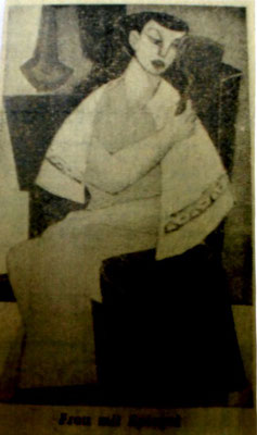 Frau mit Spiegel  1954