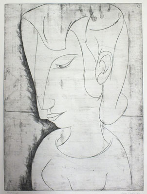 Junges Mädchen  1968  45 x 61,5