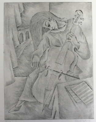 Cello Spielerin  1983  30 x 39