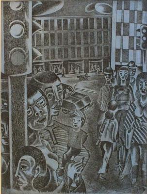 Ampel  1977  30 x 39,5 ( Ätz )            ( 2 )