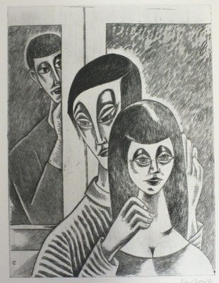 Blick am Fenster II  1996  30 x 39,5
