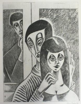 Blick am Fenster II  1996  30 x 39,5       ( 3 )