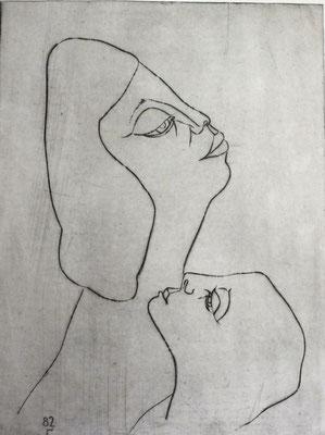 Mutter mi Tochter  1982  29,5 x 39,5          ( 3 )