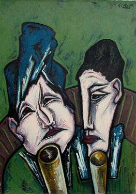 Trinkende  1963  75 x 110