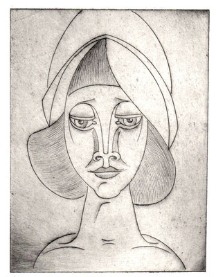 Mädchen mit Kappe  1977  13,5 x 18
