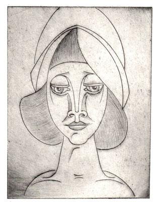 Mädchen mit Kappe  1977  13,5 x 18              ( 1 )
