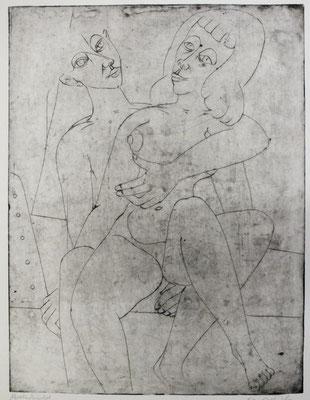 Liebespaar  1957  29,5 x 39,5