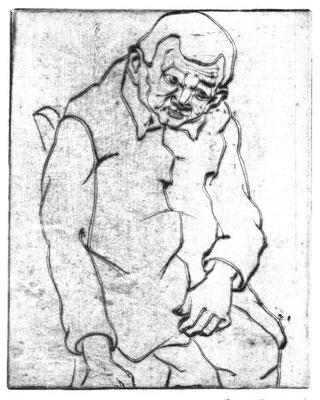 Herr Kuschbert I  1977  14,5 x 18